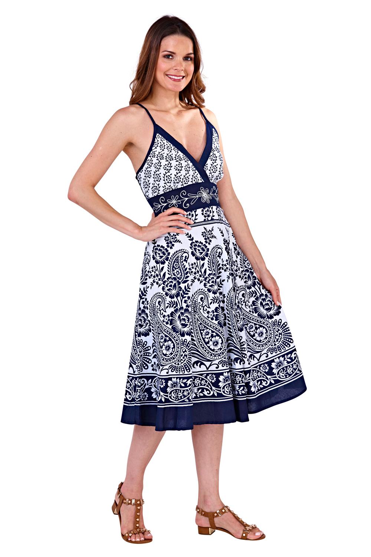 Pistachio-Womens-Cross-Over-V-Neck-Midi-Dress-Floral-Summer-Evening-Attire thumbnail 18