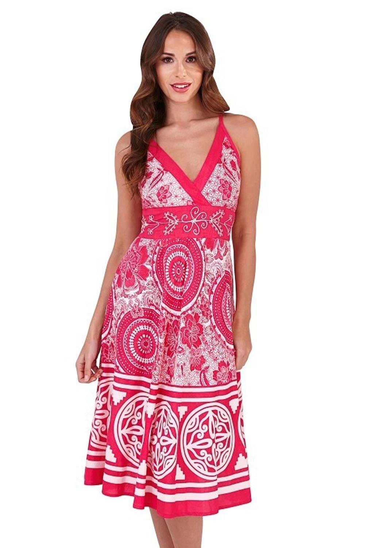 Pistachio-Womens-Cross-Over-V-Neck-Attire-Ladies-Designer-Summer-Midi-Dress thumbnail 5