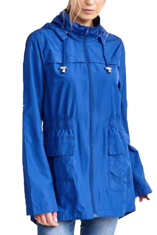 Brave-Soul-Womens-Hooded-Festival-Mac-Ladies-Showerproof-Winter-Zip-Up-Raincoat thumbnail 16