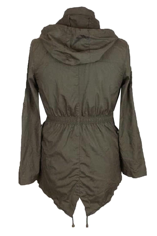 Brave-Soul-Womens-Hooded-Festival-Mac-Ladies-Showerproof-Winter-Zip-Up-Raincoat thumbnail 51