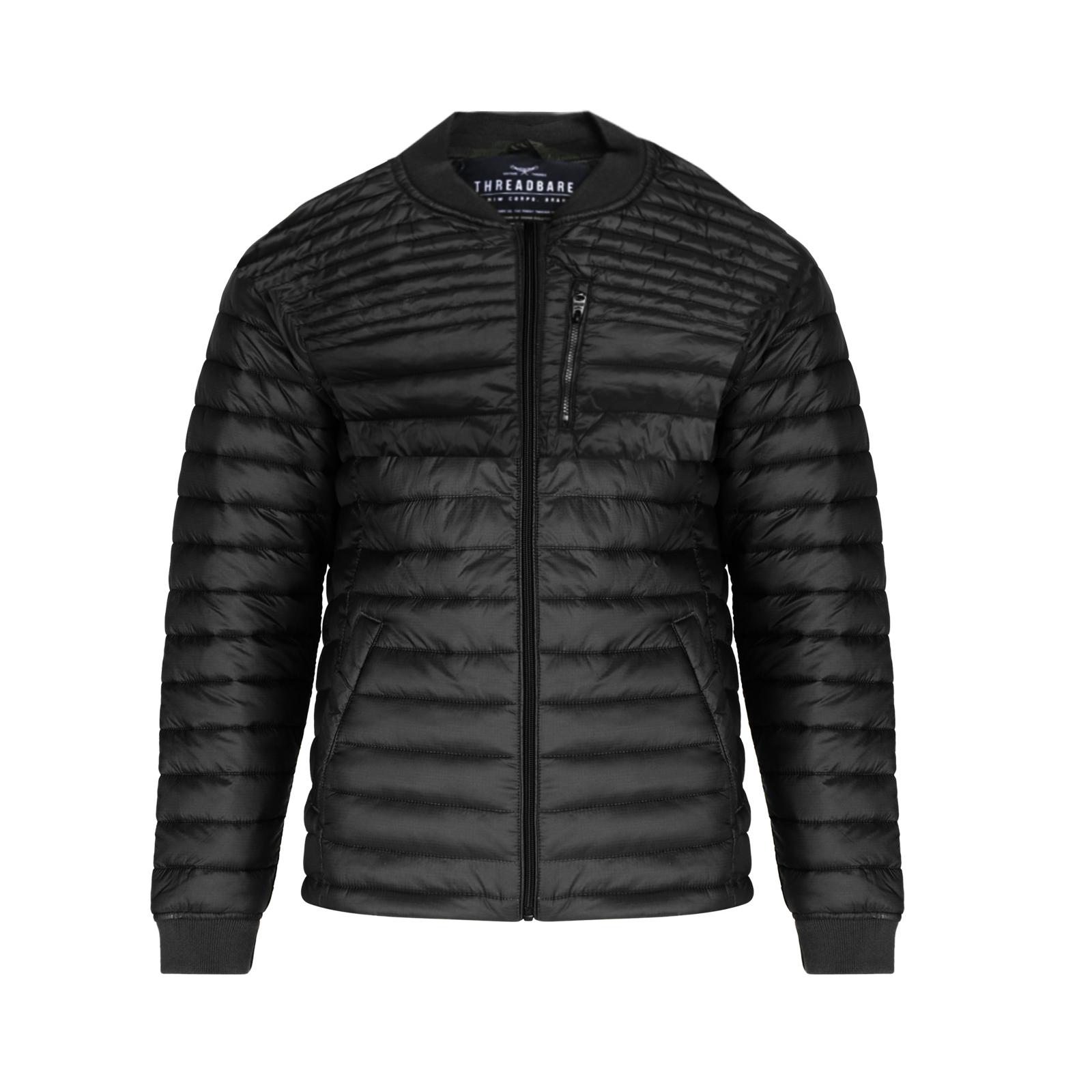 Threadbare-Mens-Naples-MA1-Bomber-Jacket-Designer-Quilted-Winter-Padded-Coat thumbnail 2