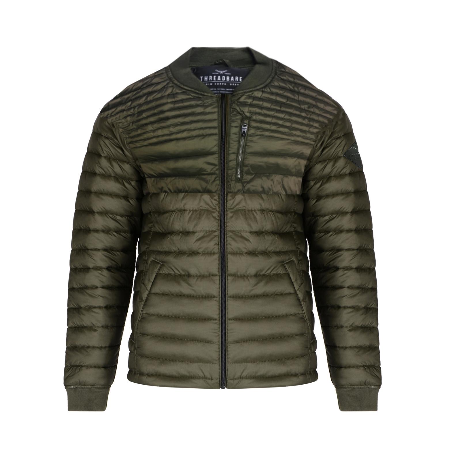Threadbare-Mens-Naples-MA1-Bomber-Jacket-Designer-Quilted-Winter-Padded-Coat thumbnail 4
