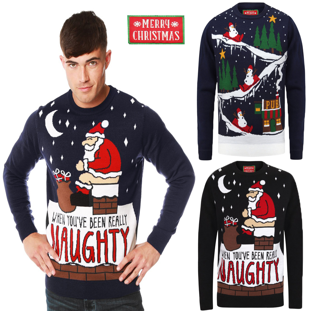 Christmas Snowman Reindeer Jumper Knitwear Novelty Xmas Sweater For Family