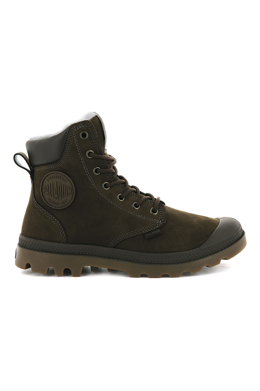 thumbnail 33 - Palladium Mens Pampa Sport Cuff Waterproof Suede Leather Shoe Wool Lined Boots