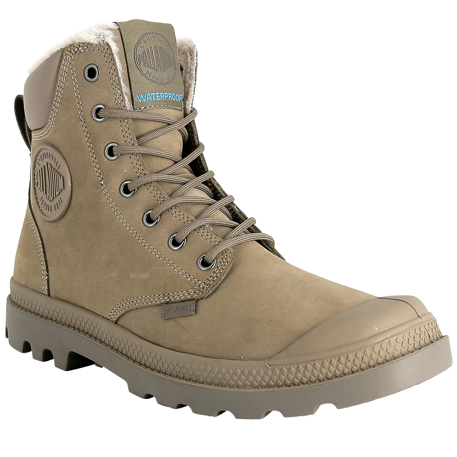Palladium-Mens-Pampa-Sport-Cuff-Waterproof-Suede-Leather-Shoe-Wool-Lined-Boots thumbnail 27