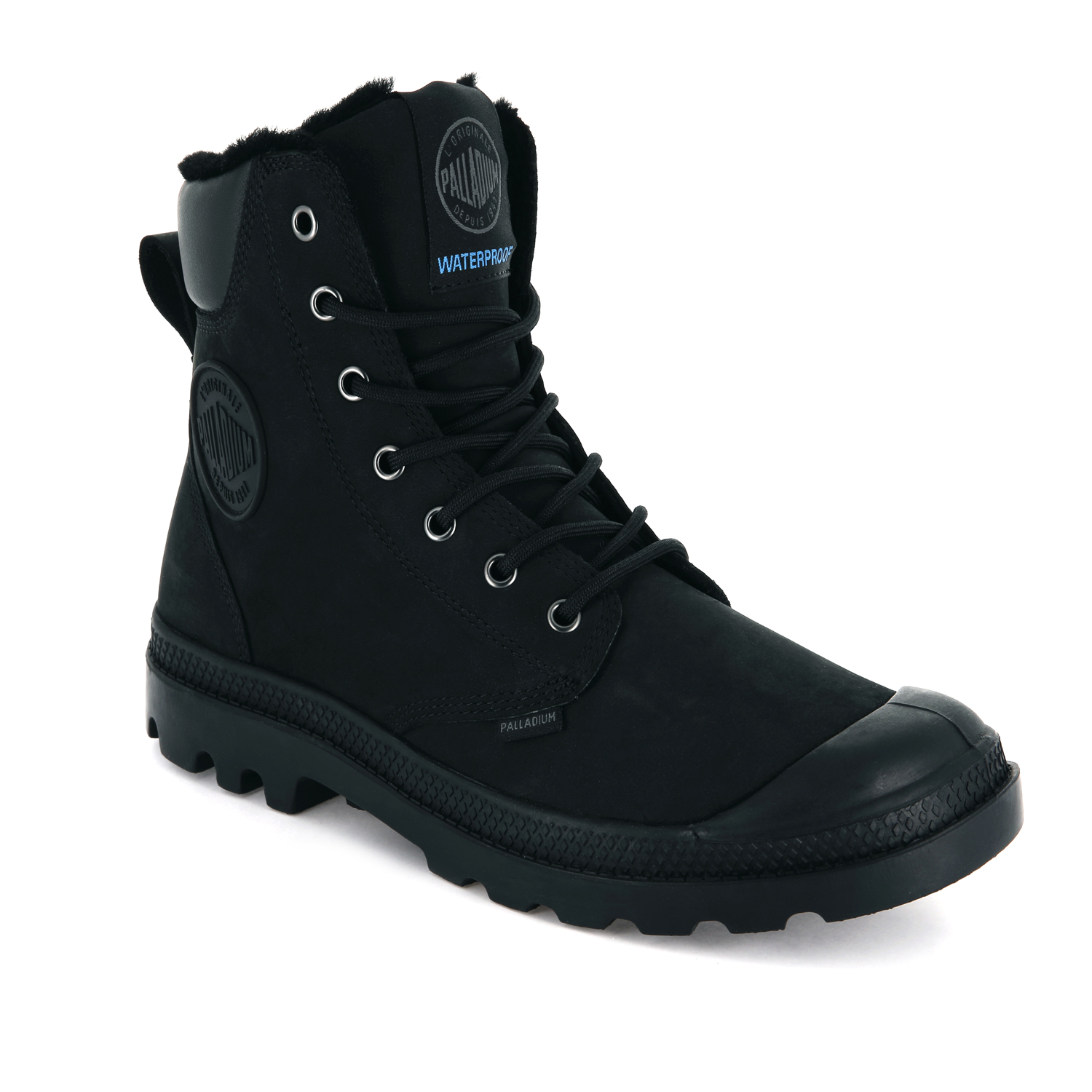 Palladium-Mens-Pampa-Sport-Cuff-Waterproof-Suede-Leather-Shoe-Wool-Lined-Boots thumbnail 4