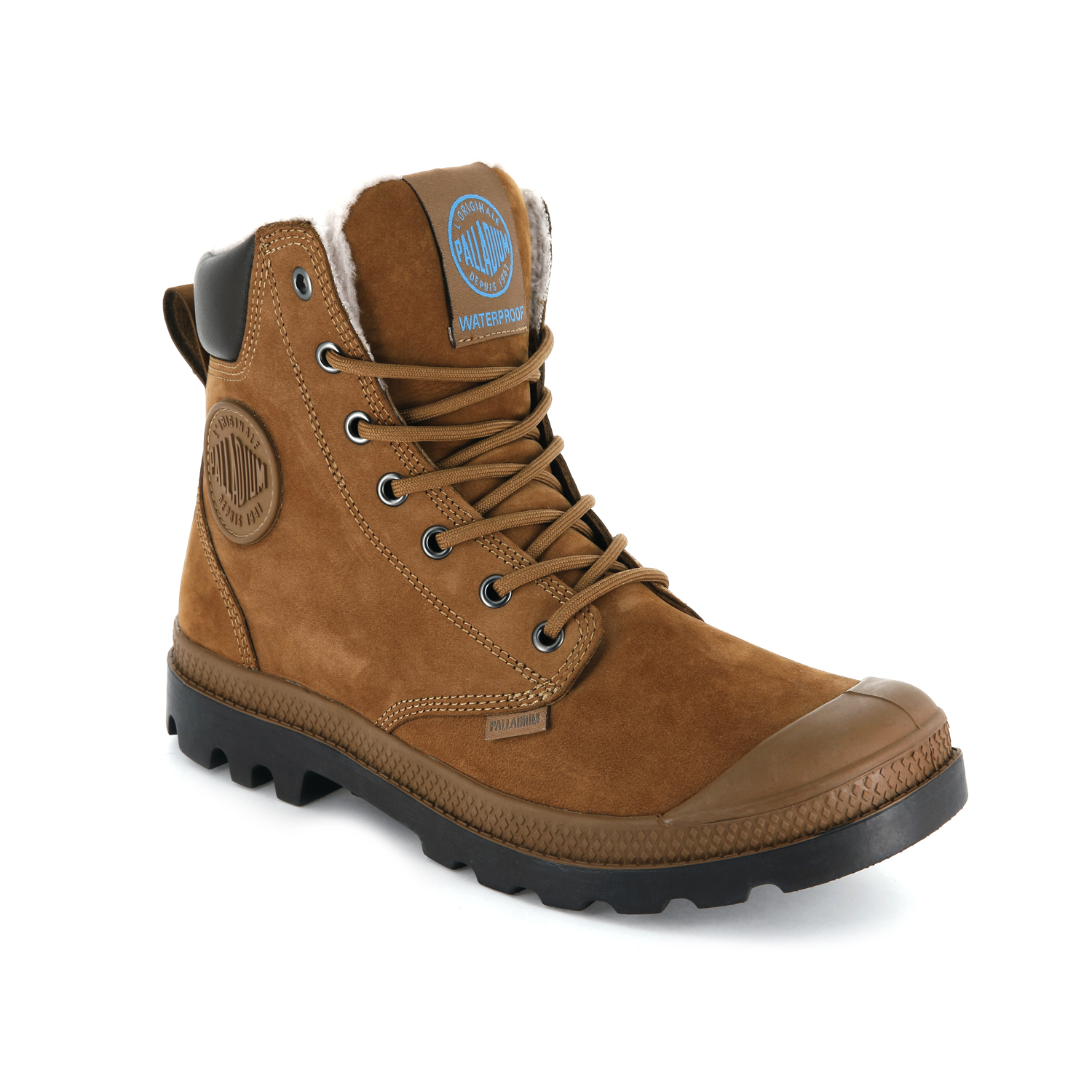 Palladium-Mens-Pampa-Sport-Cuff-Waterproof-Suede-Leather-Shoe-Wool-Lined-Boots thumbnail 23