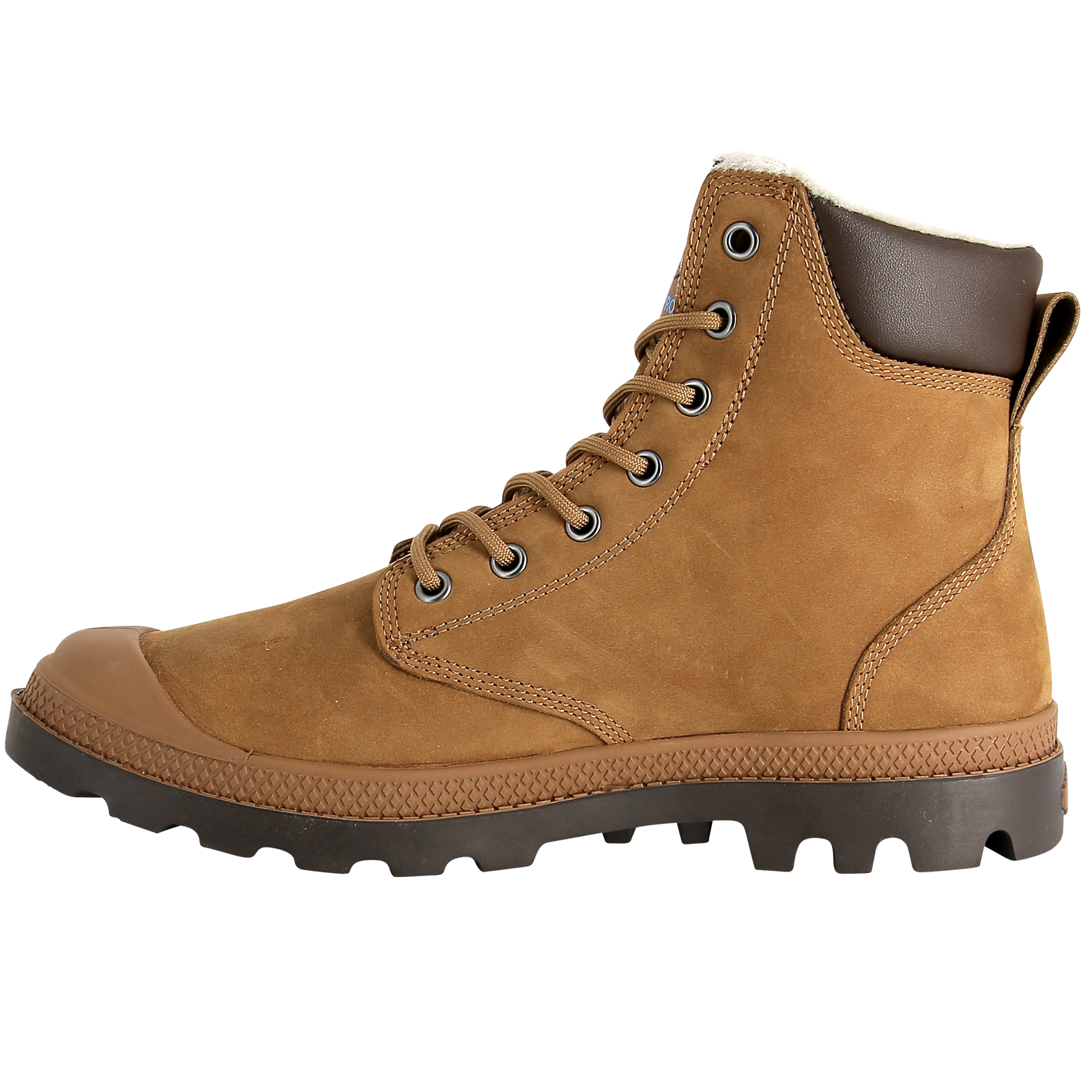Palladium Hombre Pampa Sport Cuff Water Proof Leather Leather Leather Zapatos Wool Lined Ankle botas be18a2