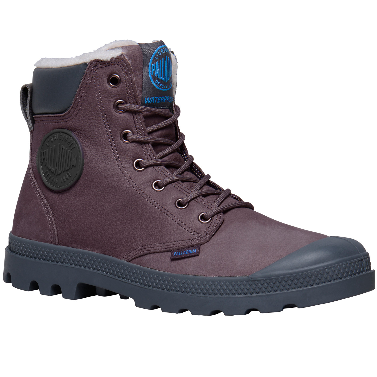 Palladium-Mens-Pampa-Sport-Cuff-Waterproof-Suede-Leather-Shoe-Wool-Lined-Boots thumbnail 18