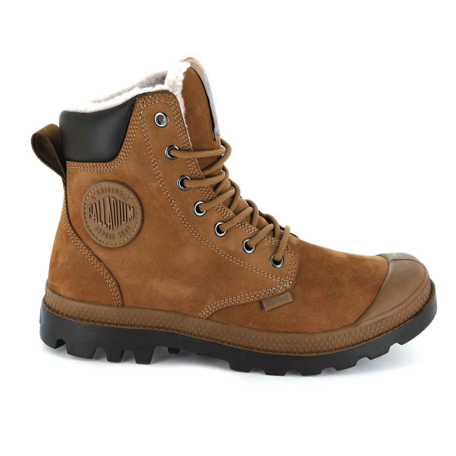 Palladium-Mens-Pampa-Sport-Cuff-Waterproof-Suede-Leather-Shoe-Wool-Lined-Boots thumbnail 22