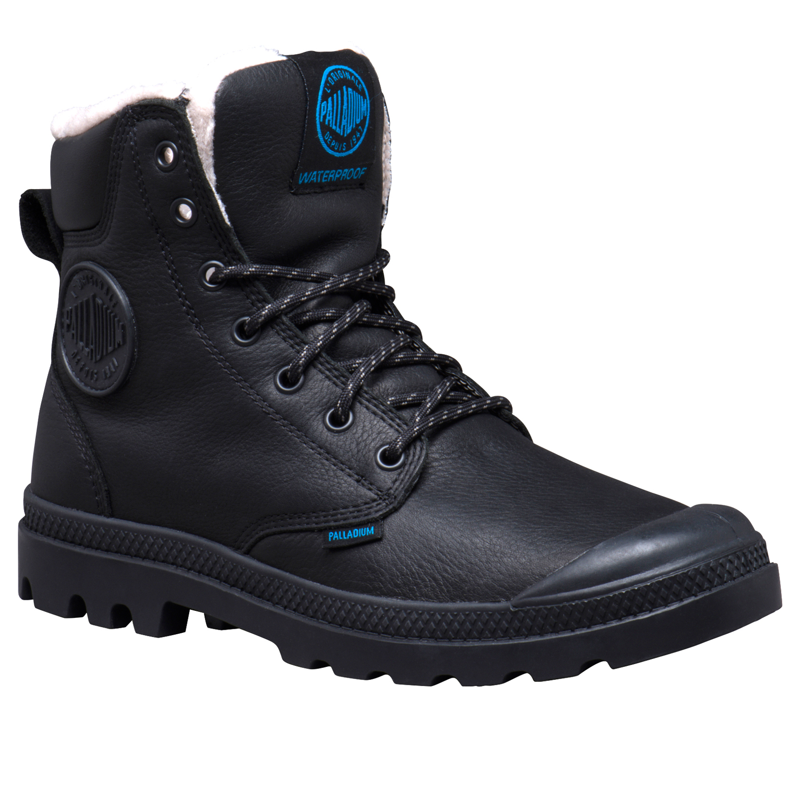 Palladium-Mens-Pampa-Sport-Cuff-Waterproof-Suede-Leather-Shoe-Wool-Lined-Boots thumbnail 8