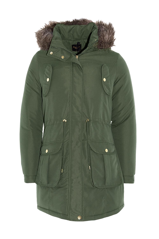 Brave Soul Cicely Ladies Parka Coats Designer Faux Fur Hooded Trim ...