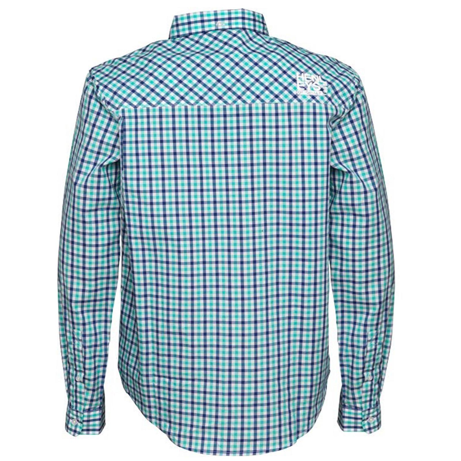 Henleys-homme-designer-classique-oxford-plain-ou-vichy-carreaux-manches-longues-chemises miniature 3