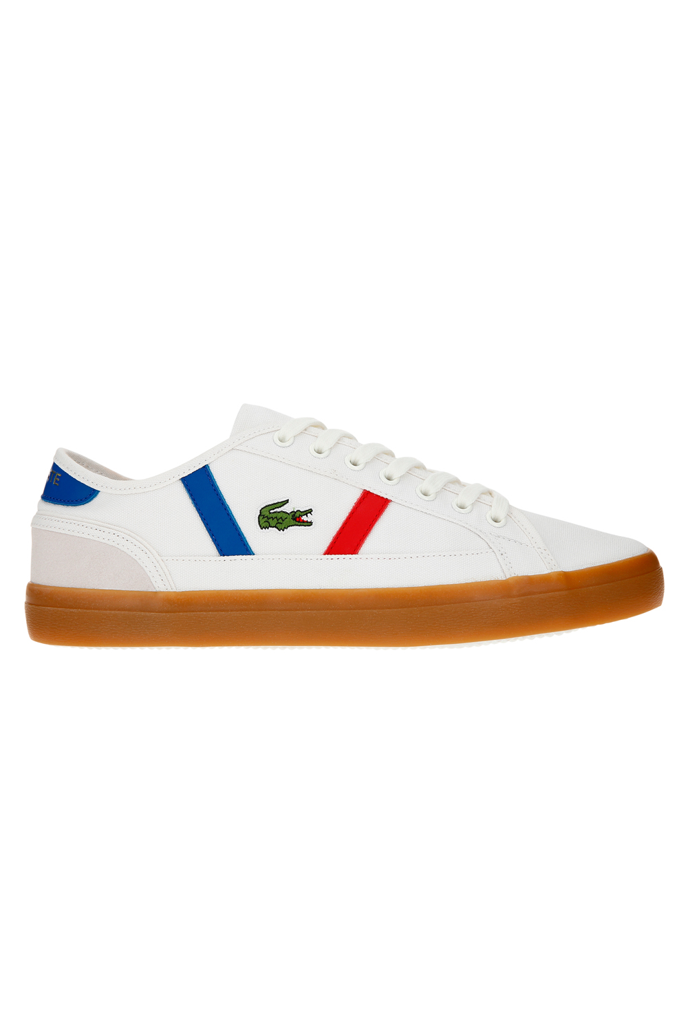 Lacoste-Mens-Sideline-119-Lace-Ups-Leather-Canvas-White-Trainers-Casual-Shoes thumbnail 3