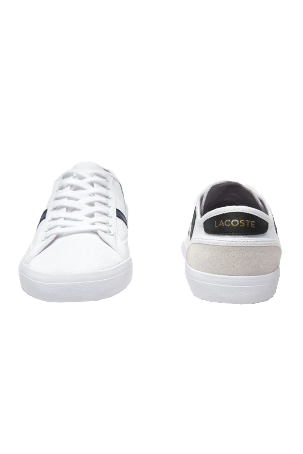 Lacoste-Mens-Sideline-119-Lace-Ups-Leather-Canvas-White-Trainers-Casual-Shoes thumbnail 11