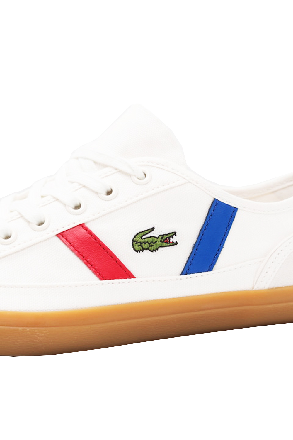 Lacoste-Mens-Sideline-119-Lace-Ups-Leather-Canvas-White-Trainers-Casual-Shoes thumbnail 4