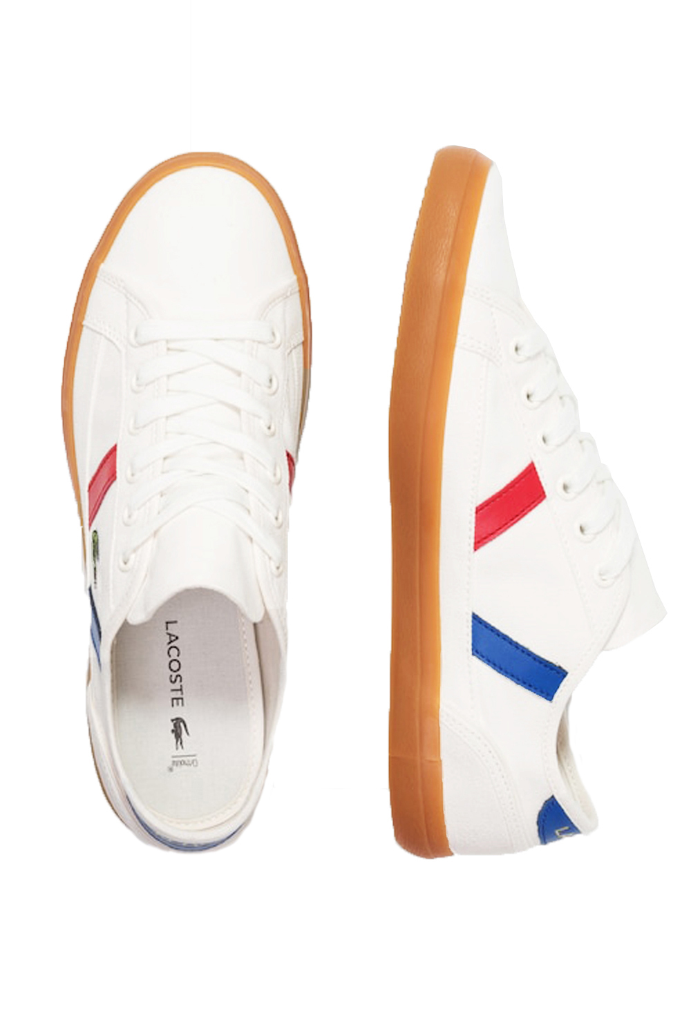 Lacoste-Mens-Sideline-119-Lace-Ups-Leather-Canvas-White-Trainers-Casual-Shoes thumbnail 5