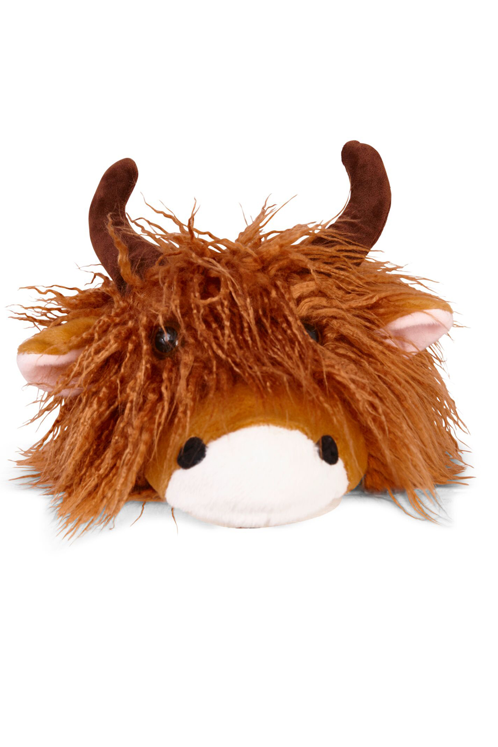 Loungeable-Mens-Novelty-3D-Highland-Cow-Design-Slip-on-Warm-Soft-Plush-Slippers thumbnail 3