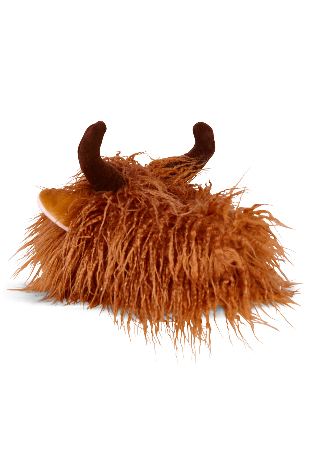 Loungeable-Mens-Novelty-3D-Highland-Cow-Design-Slip-on-Warm-Soft-Plush-Slippers thumbnail 4