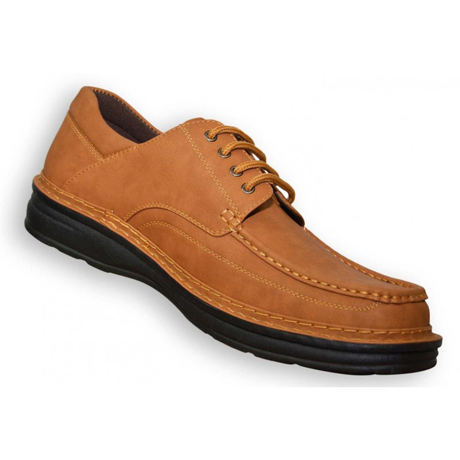 Duke-D555-Keanu-para-hombre-Big-King-Size-Zapatos-Con-Cordones-Calzado-de-Disenador-de-Cuero-PU miniatura 7