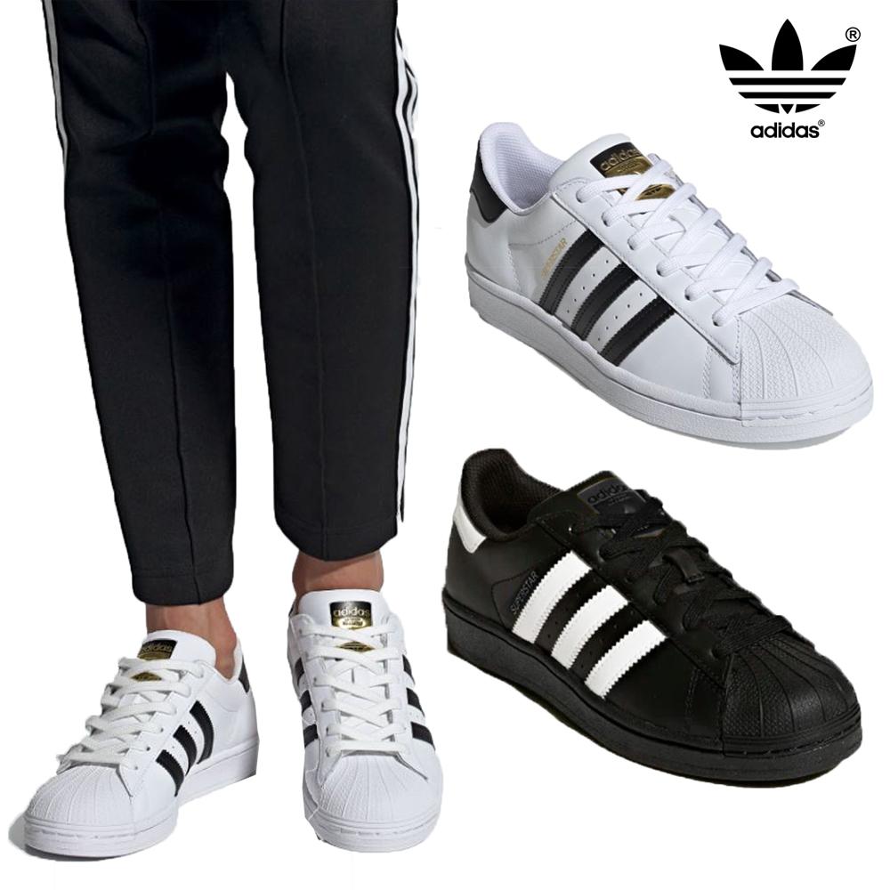 Detalles de Adidas Originals Hombre Superstar Foundation Zapatillas Cuero Bajo Top Deporte