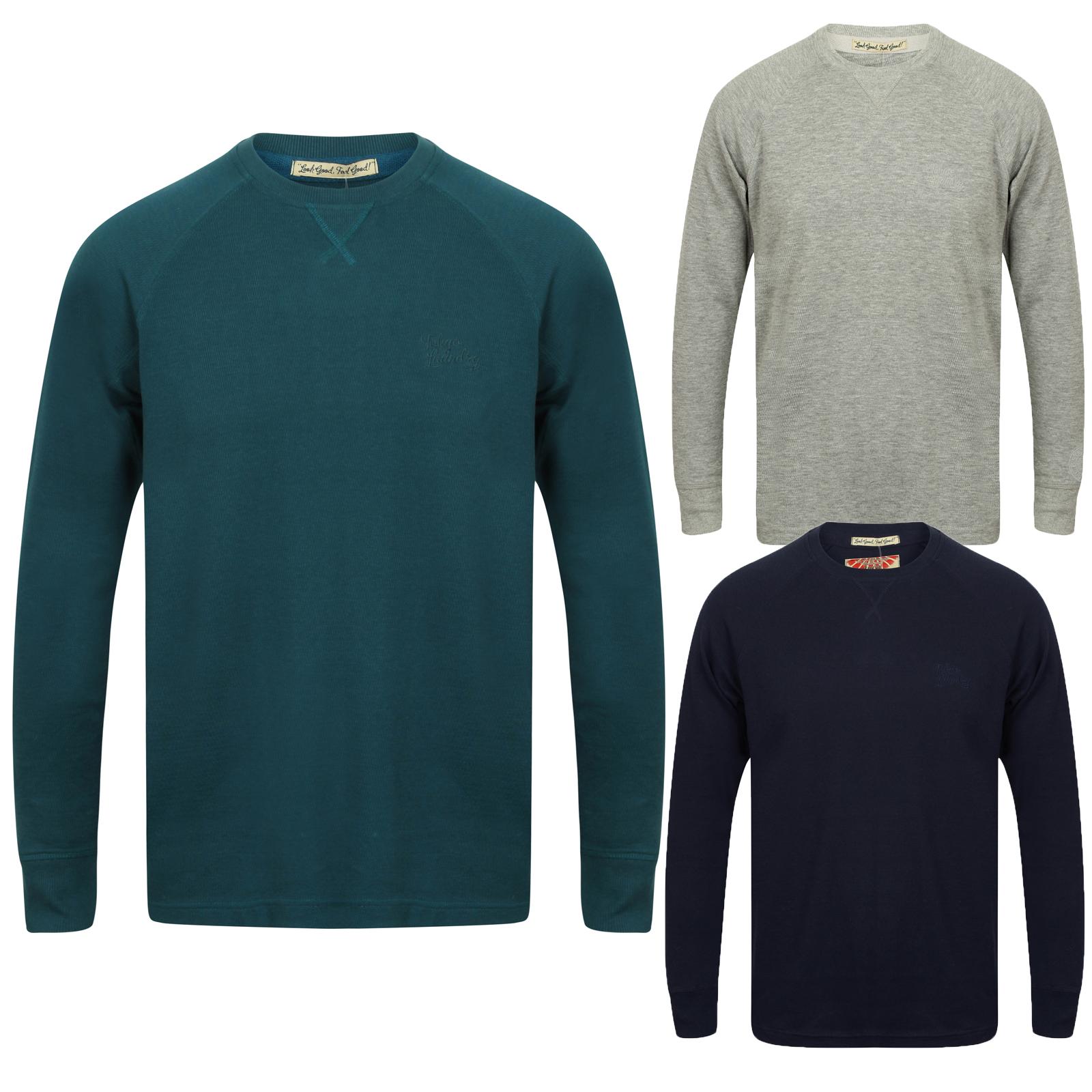 Tokyo Laundry Mens Designer T Shirt Long Raglan Sleeve Casual Top