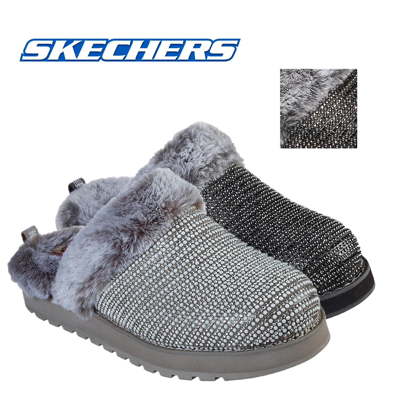 haz lado Hormiga  BOBS Skechers Keepsake High Dream Ninja Slippers Rhinestone Mule Faux Fur  Shoes | eBay