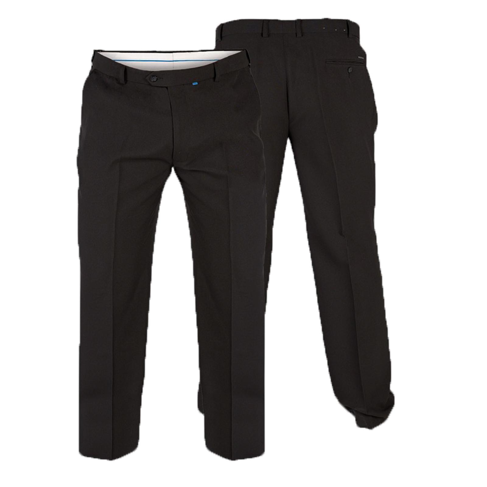 Mens Duke D555 BASILIO Rugby TrousersElastic Waist Smart Casual Pants