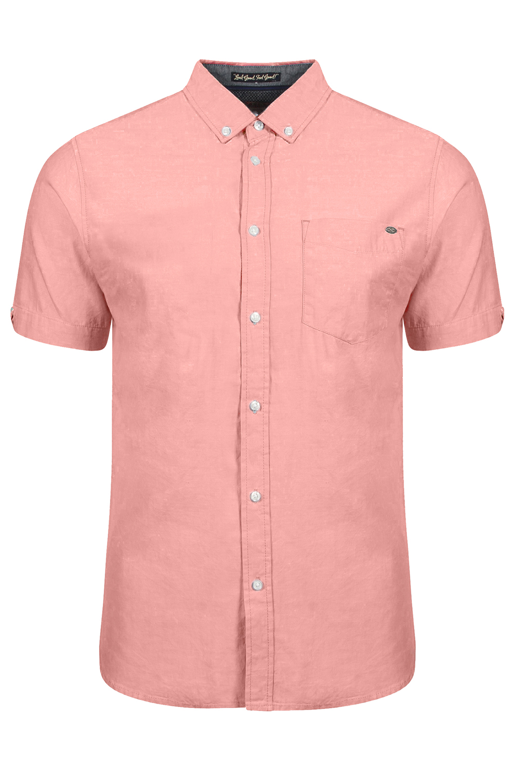 Tokyo-Laundry-Mens-Woodbury-Short-Sleeved-Smart-Casual-Shirt-Collared-Cotton-Top thumbnail 7