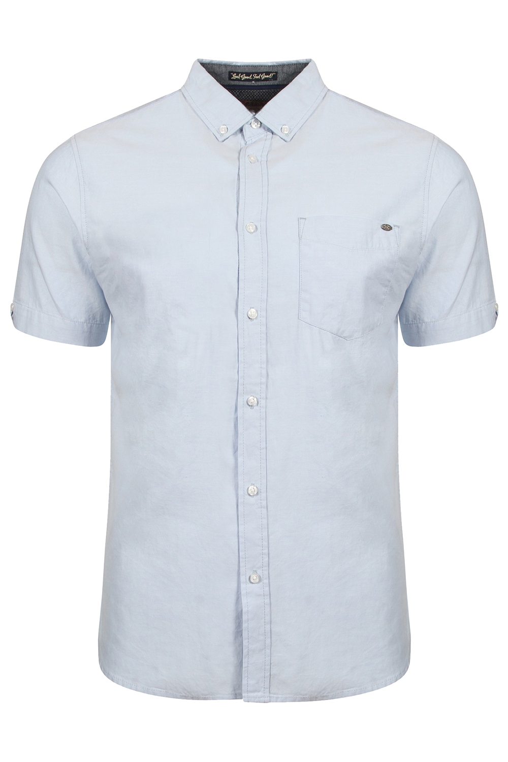 Tokyo-Laundry-Mens-Woodbury-Short-Sleeved-Smart-Casual-Shirt-Collared-Cotton-Top thumbnail 5
