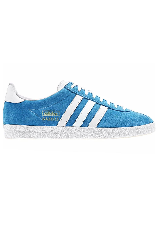 Adidas-Originals-Da-Uomo-Gazelle-OG-Scarpe-Da-Ginnastica-in-Pelle-e-pelle-scamosciata-stringati miniatura 3