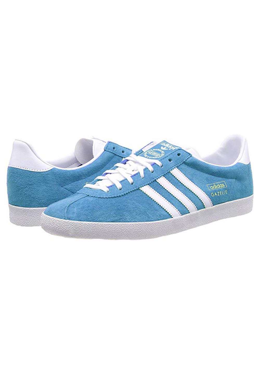 Adidas-Originals-Da-Uomo-Gazelle-OG-Scarpe-Da-Ginnastica-in-Pelle-e-pelle-scamosciata-stringati miniatura 9