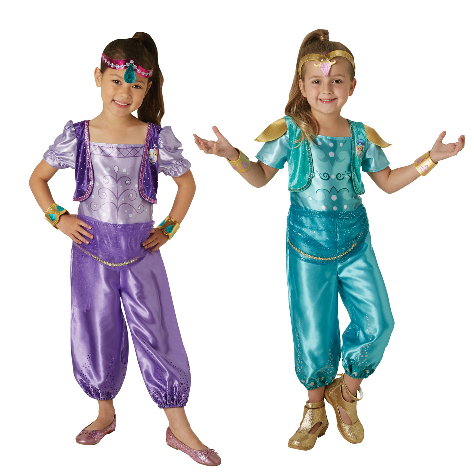3e2828a40eb Details about Rubies Girls Official Licensed Nickelodeon Shimmer & Shine  Fancy Dress Costumes