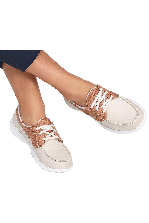 miniatura 3 - Skechers Womens Gowalk Lite Playa Vista Tela Scarpe da barca in pelle imbottito