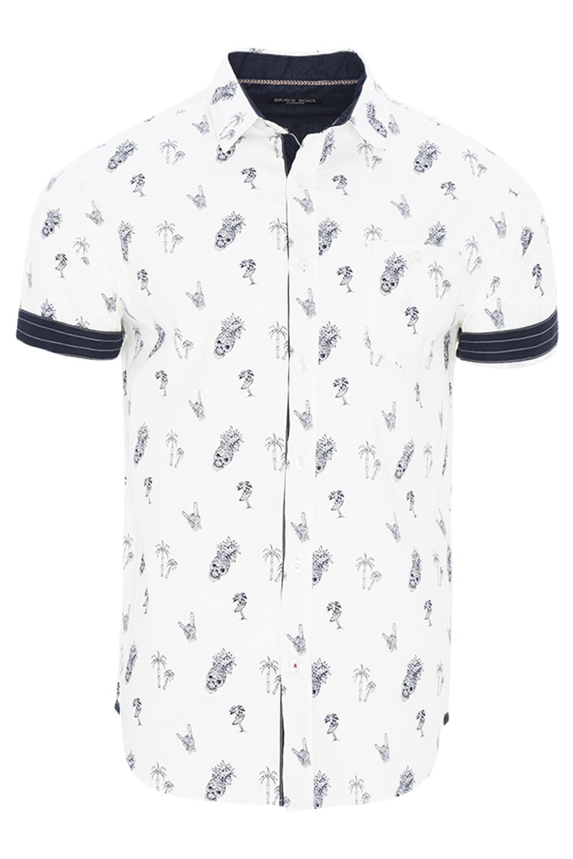 Brave-Soul-Mens-Leonidas-Short-Sleeve-Cotton-Casual-All-Over-Print-Summer-Shirt
