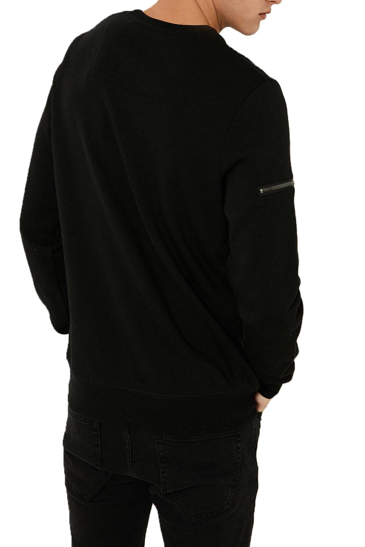 Threadbare-Mens-Chapel-Sweater-Designer-Zip-Detail-Long-Sleeve-Pullover-Jumper thumbnail 4