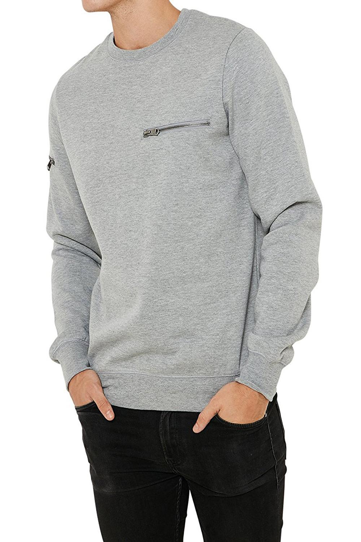 Threadbare-Mens-Chapel-Sweater-Designer-Zip-Detail-Long-Sleeve-Pullover-Jumper thumbnail 7