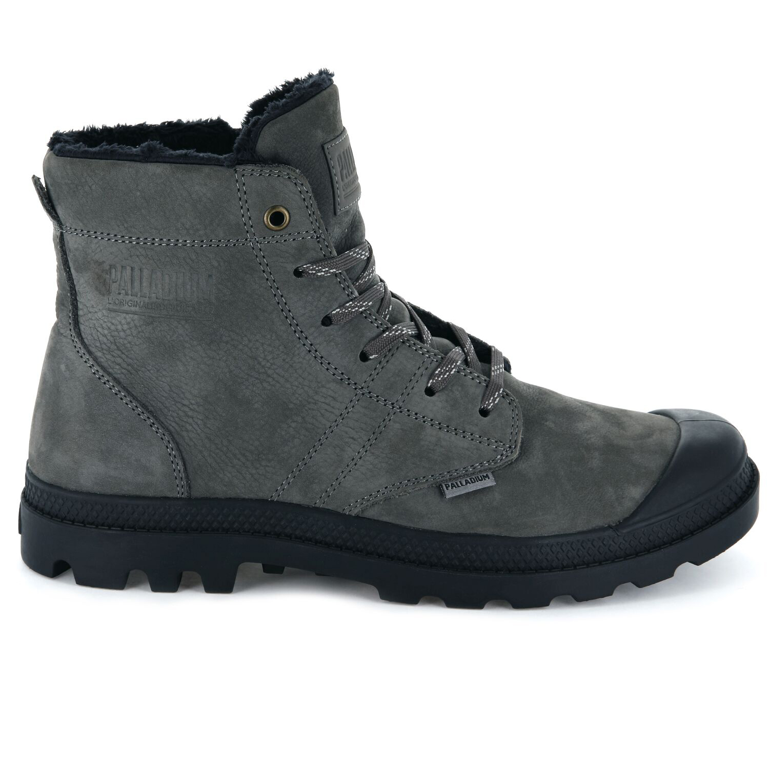 Palladium-Mens-Pallabrousse-Leather-Hi-Top-Boots-Walking-Workwear-Lace-Up-Shoes thumbnail 3