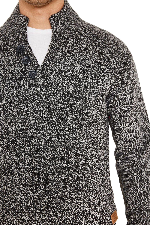 Logoro-Da-Uomo-Maglione-Collo-Alto-Kenneth-filato-lavorato-a-maglia-a-costine-Pullover-Maglione miniatura 7