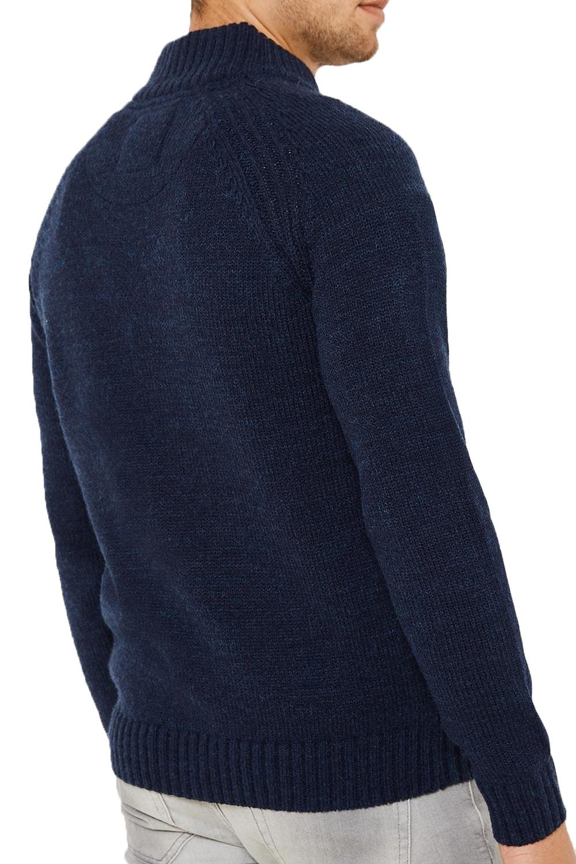 Logoro-Da-Uomo-Maglione-Collo-Alto-Kenneth-filato-lavorato-a-maglia-a-costine-Pullover-Maglione miniatura 5