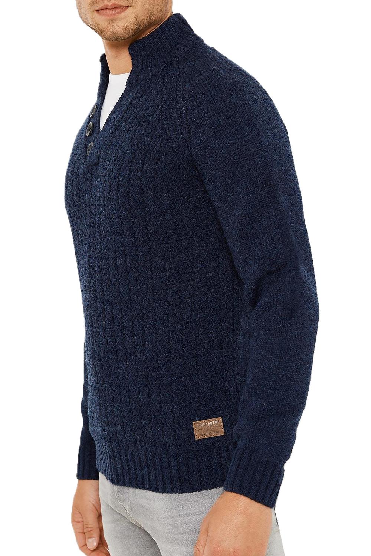 Logoro-Da-Uomo-Maglione-Collo-Alto-Kenneth-filato-lavorato-a-maglia-a-costine-Pullover-Maglione miniatura 3