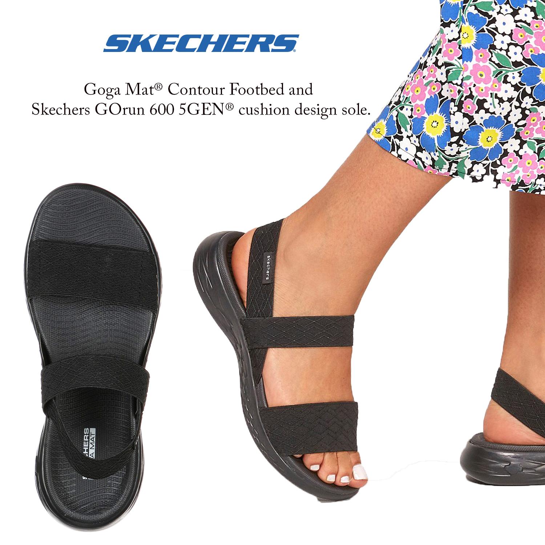 Skechers Womens On The Go 600 Girls Trip Comfort Summer Sporty Beach Sandals Ebay