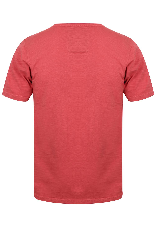 Mens-Tokyo-Laundry-Barry-T-Shirt-Short-Sleeved-Cotton-Jersey-Grandad-Neck-Top thumbnail 5