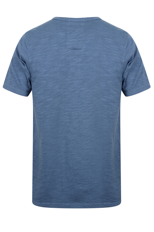 Mens-Tokyo-Laundry-Barry-T-Shirt-Short-Sleeved-Cotton-Jersey-Grandad-Neck-Top thumbnail 3