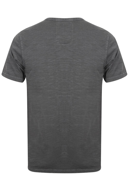 Mens-Tokyo-Laundry-Barry-T-Shirt-Short-Sleeved-Cotton-Jersey-Grandad-Neck-Top thumbnail 7