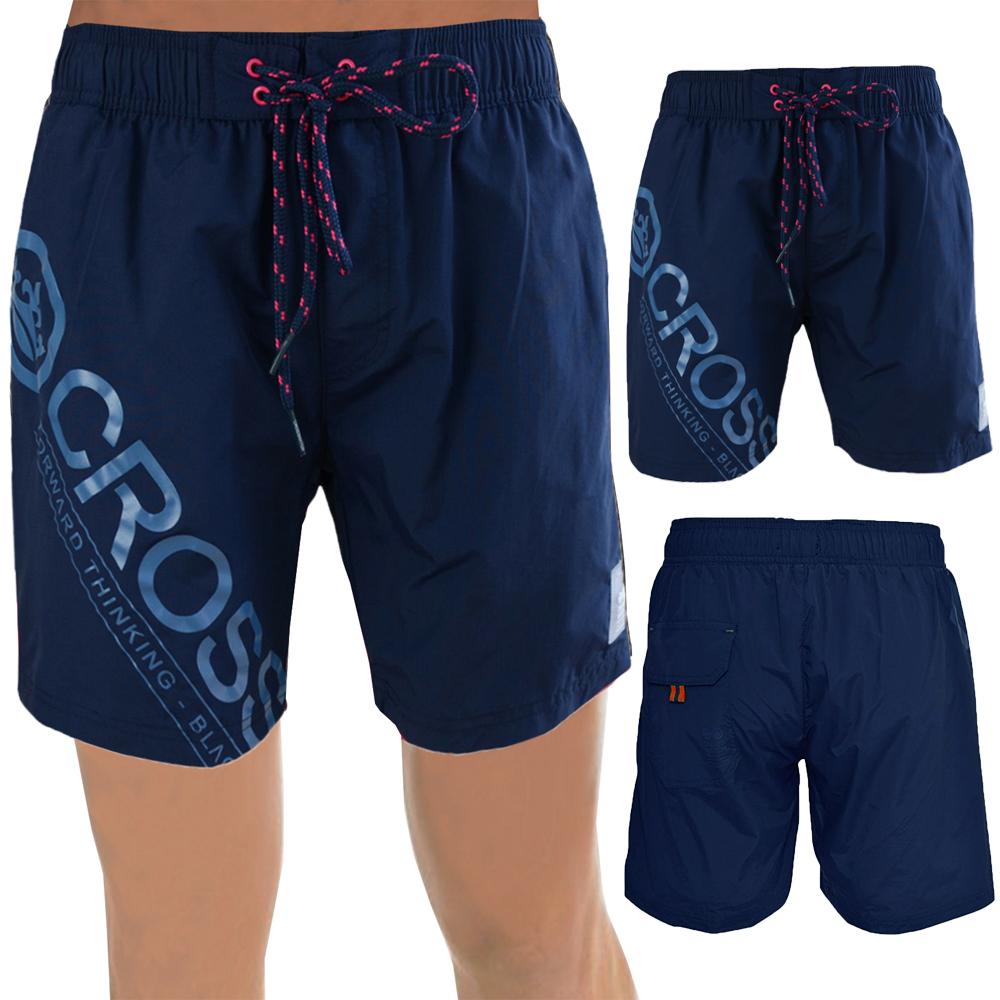 Crosshatch Mens Swim Shorts Designer Mesh Lined Beach Swimming Trunks Bottoms
