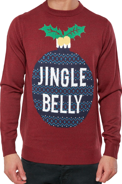 Seasons-Greetings-Adults-Jingle-Belly-Christmas-Jumper-Novelty-Festive-Sweater thumbnail 4