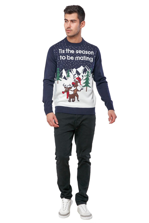 Seasons-Greetings-Adults-Christmas-Jumper-Novelty-Funny-Rude-Xmas-Sweater-Top thumbnail 33