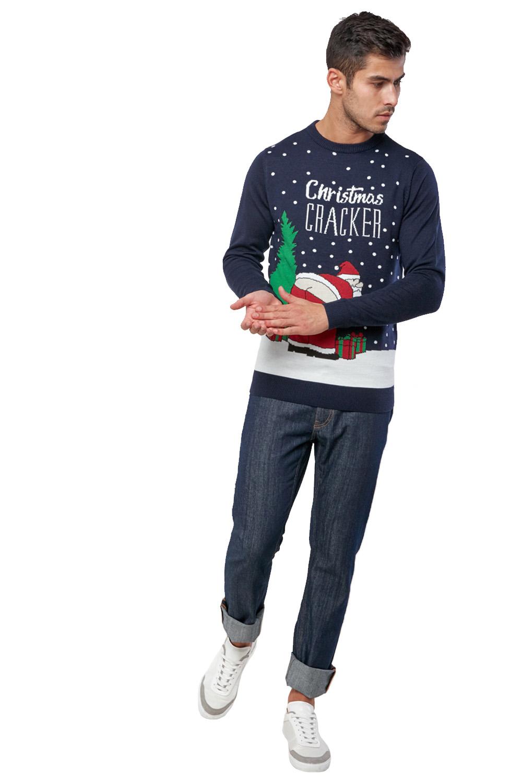 Seasons-Greetings-Adults-Christmas-Jumper-Novelty-Funny-Rude-Xmas-Sweater-Top thumbnail 28