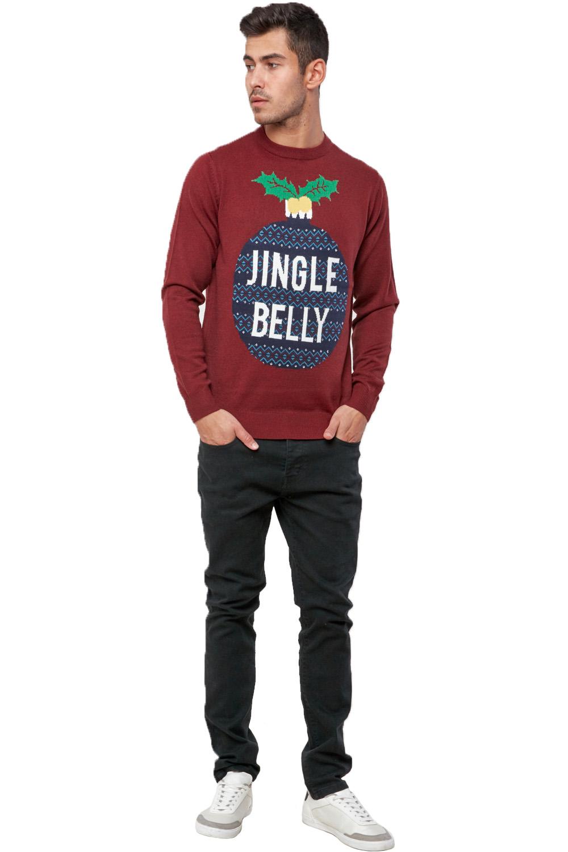 Seasons-Greetings-Adults-Jingle-Belly-Christmas-Jumper-Novelty-Festive-Sweater thumbnail 3